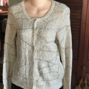 Sparkly gold ivory Simply Vera cardigan